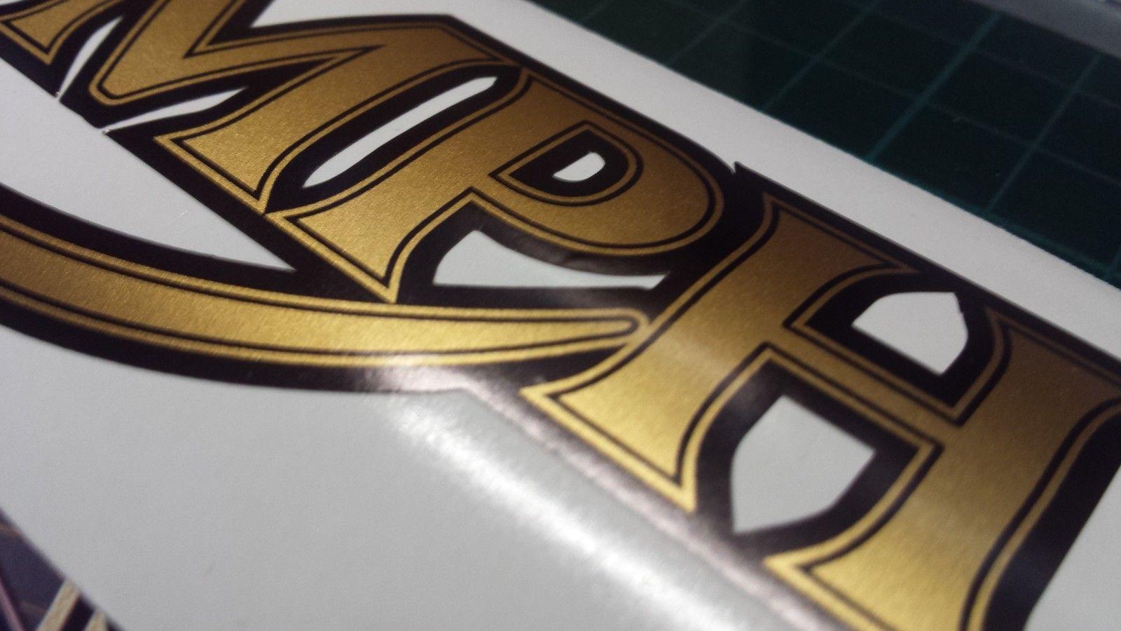 Triumph Tank Decal X2 Sticker Decal Graphics Restoration